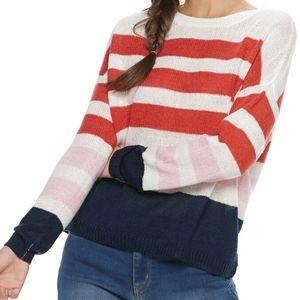 SO striped sweater